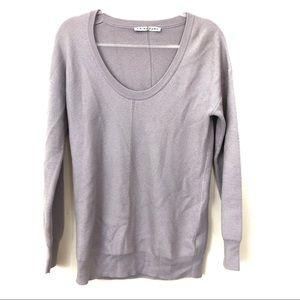 Trina Turk Merino Wool Lavender Sweater Size M